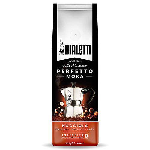 Bialetti Perfetto Moka Nocciola gemalen koffie