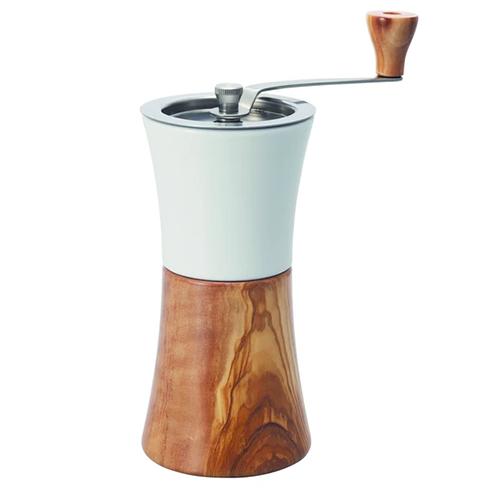 Hario Ceramic Coffee Mill Olijfhout koffiemolen